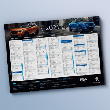 Calendriers Peugeot Finance