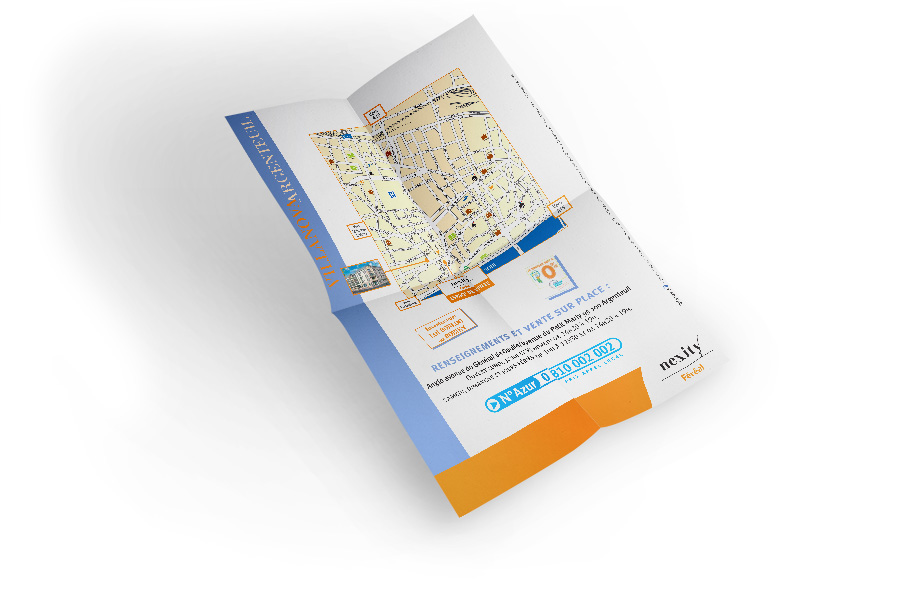 Tract immobilier format A2 verso
